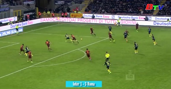 Vòng 26 Serie A - Inter Milan 1-3 AS Roma