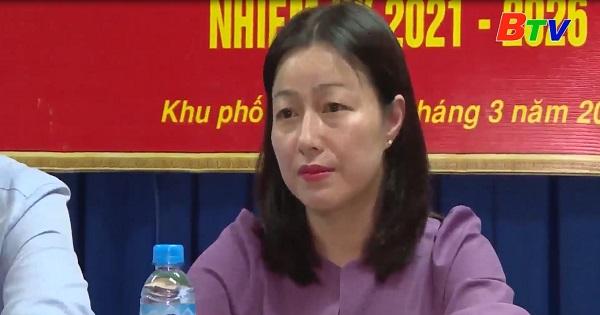 Hội nghị lấy ý kiến cử tri khu phố 2, phường Phú Lợi, Thành phố Thủ Dầu Một