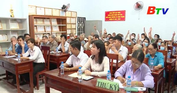 Hội nghị lấy ý kiến cử tri ấp Nhựt Thạnh, xã Thạnh Hội, Thị xã Tân Uyên