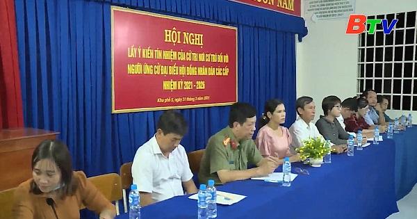 Hội nghị lấy ý kiến cử tri phường Định Hòa, thành phố Thủ Dầu Một