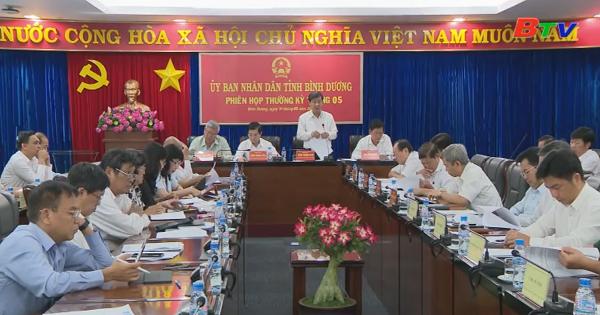 UBND tỉnh Bình Dương tổ chức phiên họp thường kỳ tháng 5
