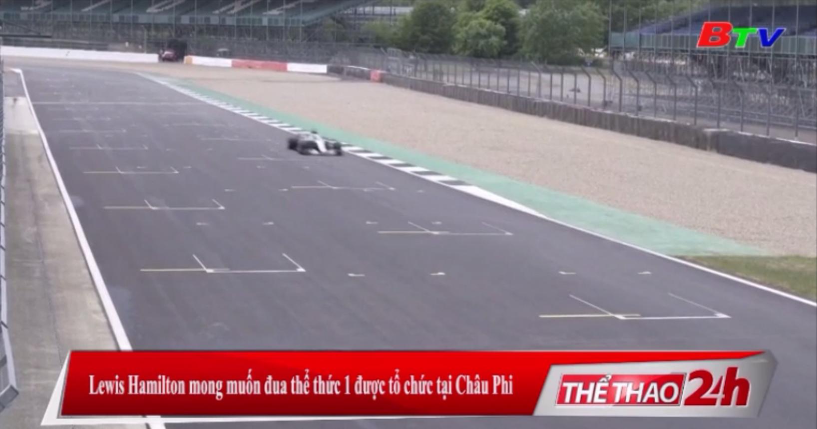 Lewis Hamilton mong muốn đua thể thức 1 được tổ chức tại châu Phi