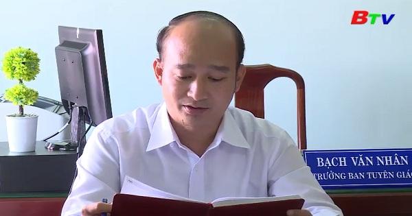 Người cán bộ làm công tác tuyên giáo luôn đi đầu trong thực hiện chỉ thị 03 về học tập và làm theo Bác
