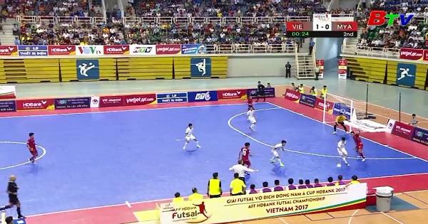Tuyển Futsal Việt Nam vào bán kết Giải Futsal vô địch  Đông Nam Á 2017