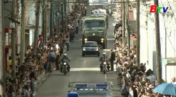 Cuba Tiến hành lễ rước tro cốt lãnh tụ Fidel Castro