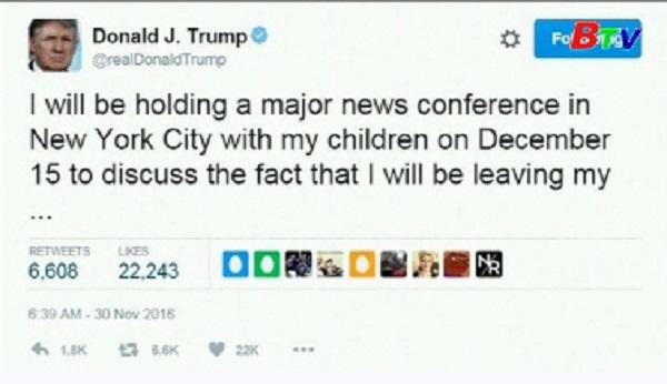 Ông Trump tuyên bố từ bỏ sự nghiệp kinh doanh