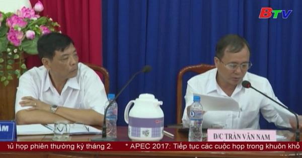 Bí thư tỉnh ủy làm việc với Ban thường vụ Thị ủy Thuận An