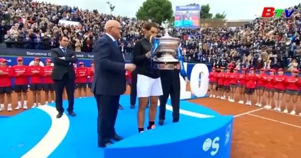 Rafael Nadal lần thứ 10 vô địch Barcelona mở rộng