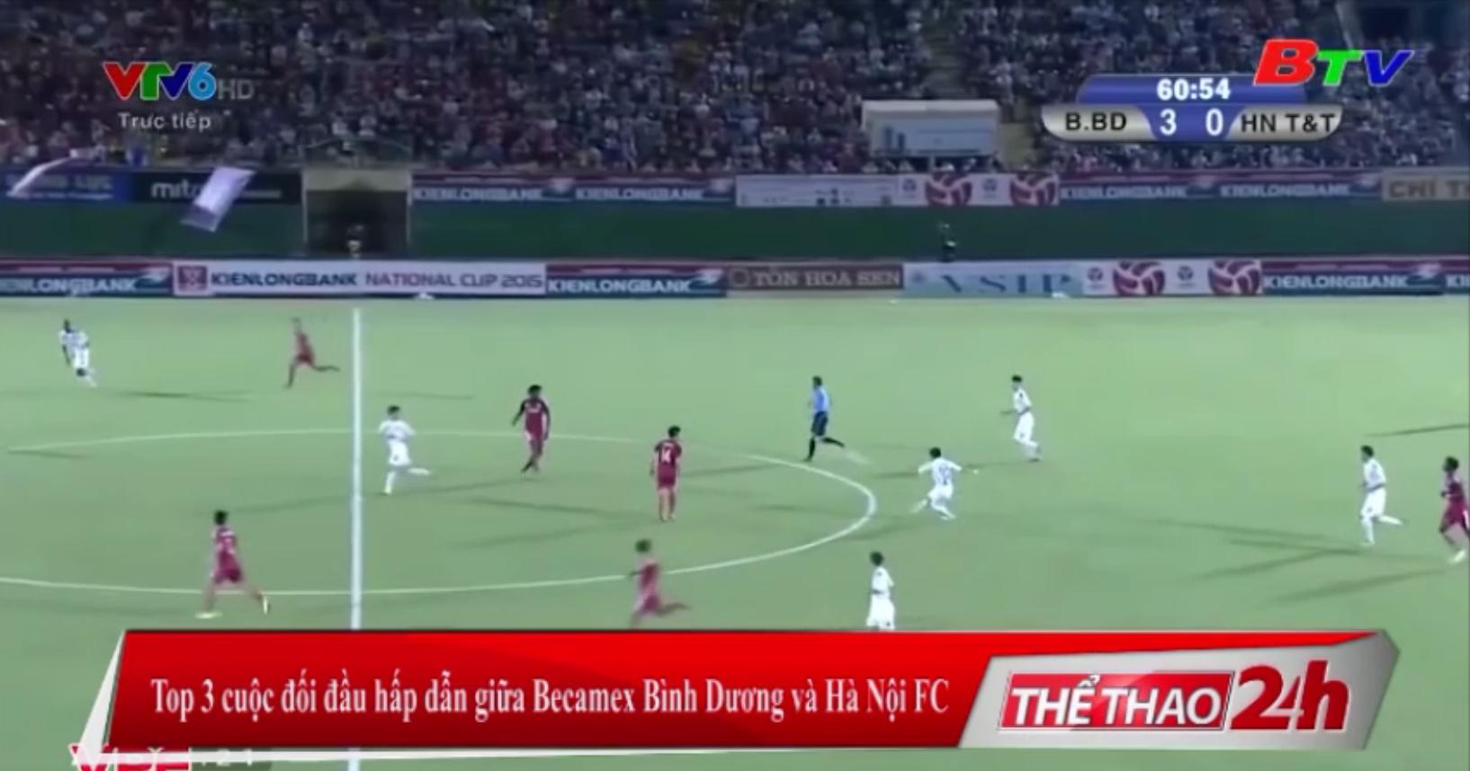 Top 3 cuộc đối đầu hấp dẫn giữa Becamex Bình Dương và Hà Nội FC