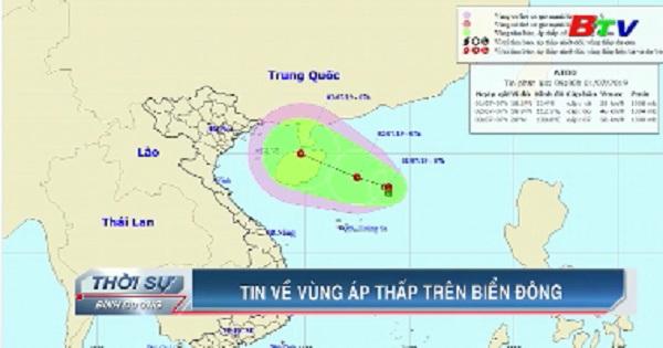 Tin về vùng áp thấp nhiệt đới trên Biển Đông