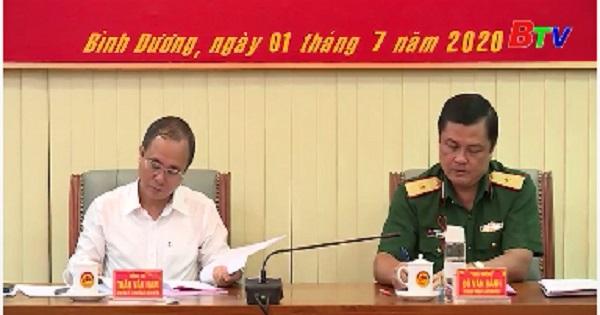 Đảng ủy quân sự tỉnh Bình Dương tổ chức Hội nghị phiên 06 tháng đầu năm 2020