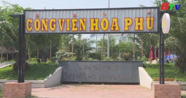 Quán cà phê trong công viên Hòa Phú đã được tháo dỡ
