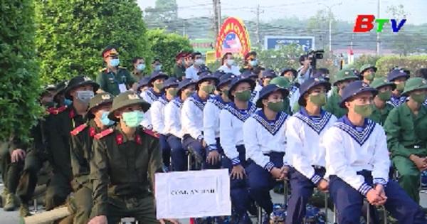 Huyện Bàu Bàng tổ chức lễ giao nhận quân năm 2021