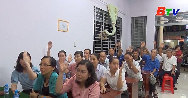 Hội nghị lấy ý kiến cử tri khu phố 7, thị trấn Dầu Tiếng