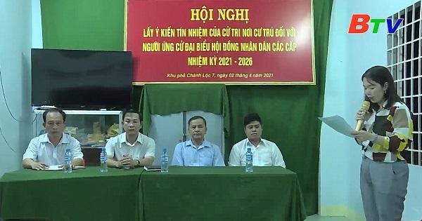 Hội nghị lấy ý kiến cử tri khu phố Chánh Lộc 7, phường Chánh Mỹ, Thành phố Thủ Dầu Một