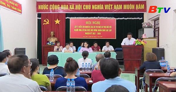 Hội nghị lấy ý kiến cử tri khu phố 6, phường Phú Lợi, Thành phố Thủ Dầu Một