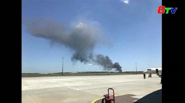 Máy bay vận tải quân sự C-130 chở theo 9 người rơi ở Mỹ