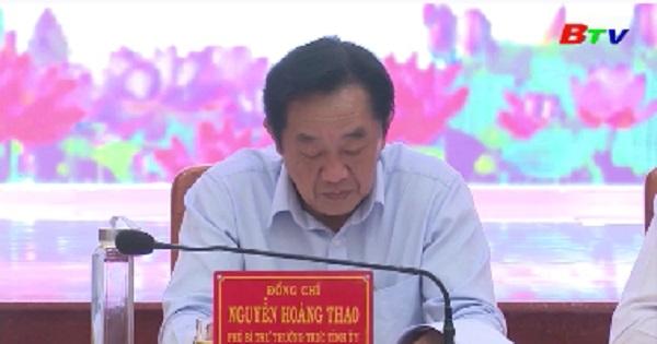 Ban Thường vụ Tỉnh ủy kiểm tra công tác chuẩn bị Đai hội Đảng bộ cấp huyện