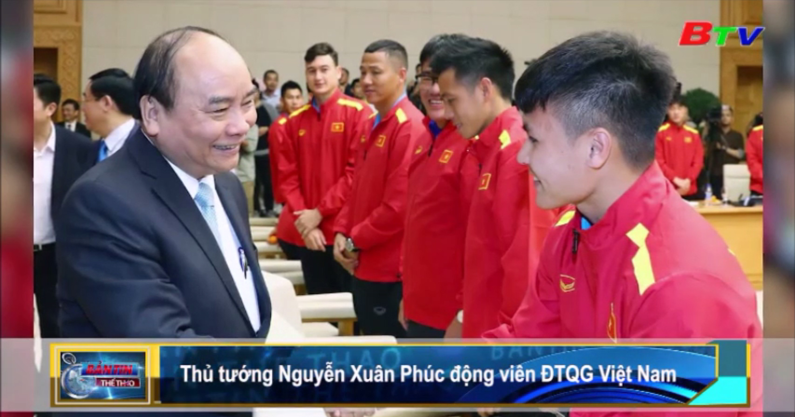 Thủ tướng Nguyễn Xuân Phúc động viên ĐTQG Việt Nam