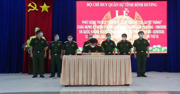 Phòng chính trị - Bộ chỉ huy quân sự tỉnh Bình Dương thi đua làm theo Bác