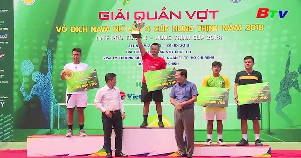 Kết thúc Giải quần vợt VTF Pro Tour 4 năm 2018