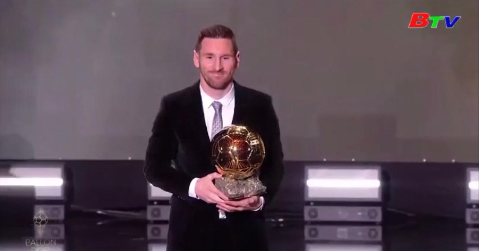 Lionel Messi nhận Quả bóng Vàng 2019