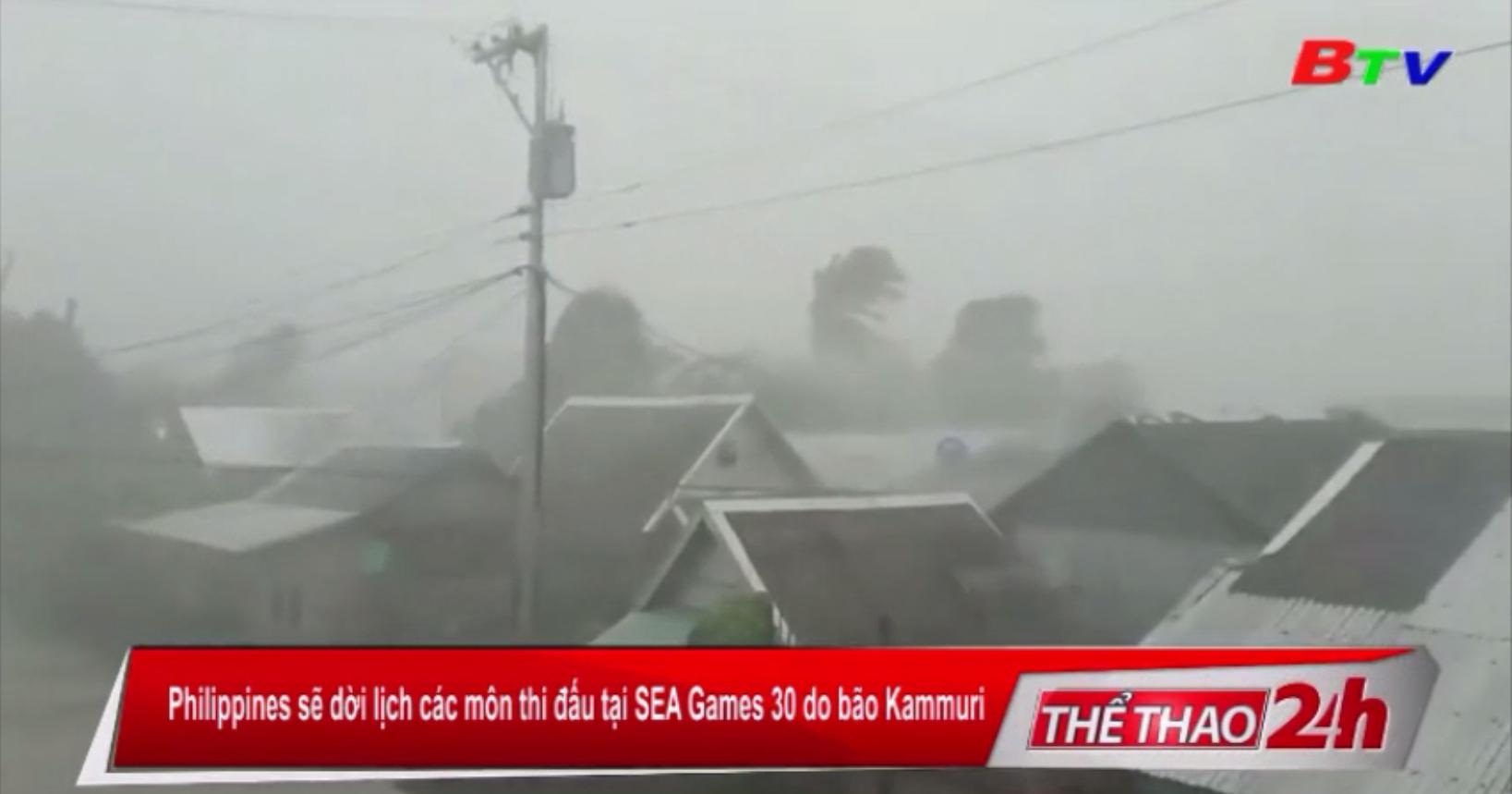 Philippines sẽ dời lịch các môn thi đấu tại SEA Games 30 do bão Kammuri