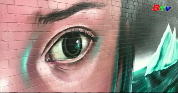 Bức tranh tường khổng lồ ở thành phố Bristol