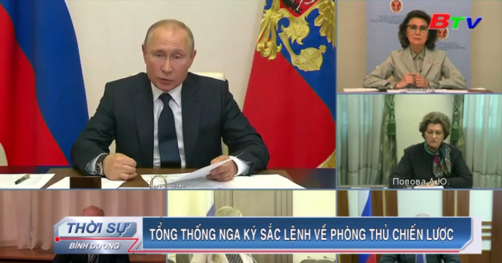 Tổng thống Nga ký sắc lệnh về phòng thủ chiến lược