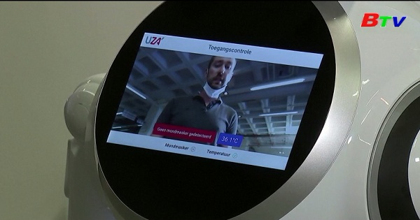 Robot tiếp tân bệnh viện ở Bỉ