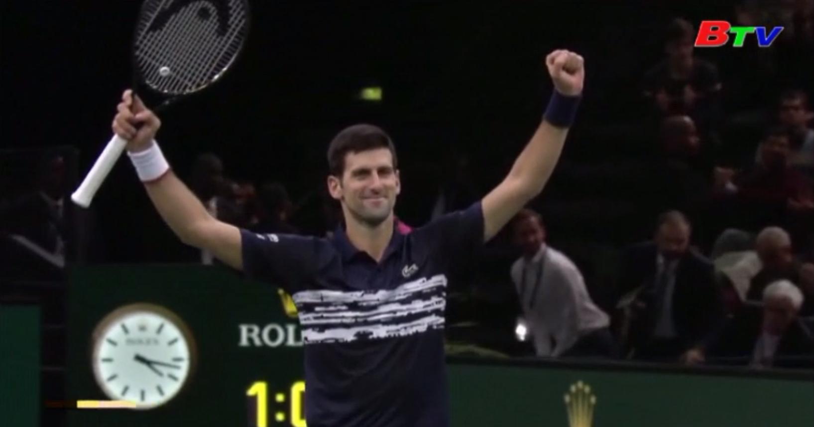Novak Djokovic lần thứ 5 vô địch Paris Masters