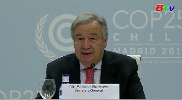 Tổng thư ký Liên hợp quốc cảnh báo khủng hoảng khí hậu đang đe dọa nền văn minh