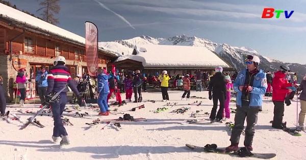 Khu trượt tuyết nói không với nhựa