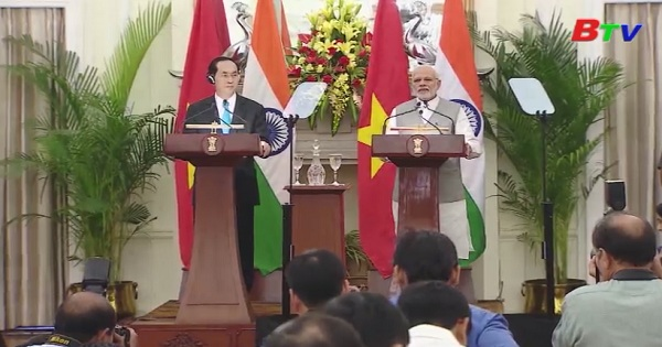 Chuyến thăm cấp nhà nước của Chủ tịch nước Trần Đại Quang đến Ấn Độ