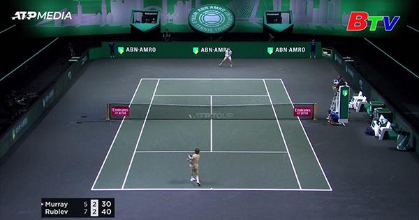 Andrey Rublev vào tứ kết Giải quần vợt Rotterdam mở rộng năm 2021