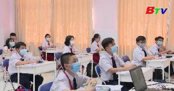 Tiếp tục thực hiện nghiêm công tác phòng chống dịch trong trường học
