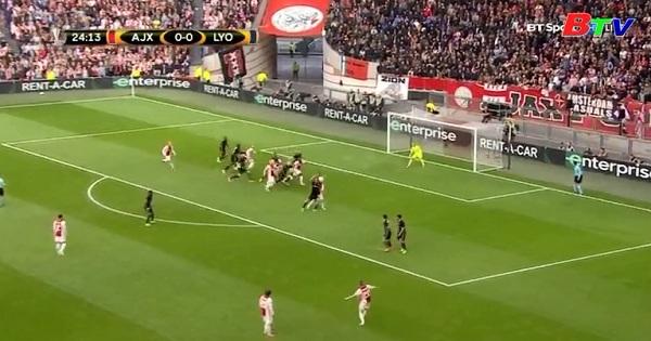 Bán kết lượt đi Europa League -  Ajax 4–1 Lyon