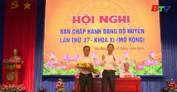 Hội nghị Ban Chấp hành đảng bộ huyện Bàu Bàng lần thứ 27 - Khóa XI (Mở rộng)