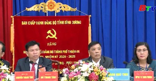 Khai mạc Đại hội Đảng bộ Thành phố Thuận An lần XII, nhiệm kỳ 2020 - 2025