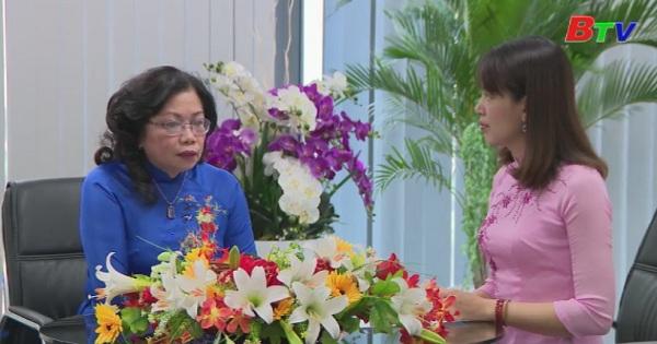 Trao đổi giữa phóng viên với bà Nguyễn Thị KIm Oanh, Phó Chủ tịch HĐND tỉnh Bình Dương trước kỳ họp thứ 5 của HĐND tỉnh