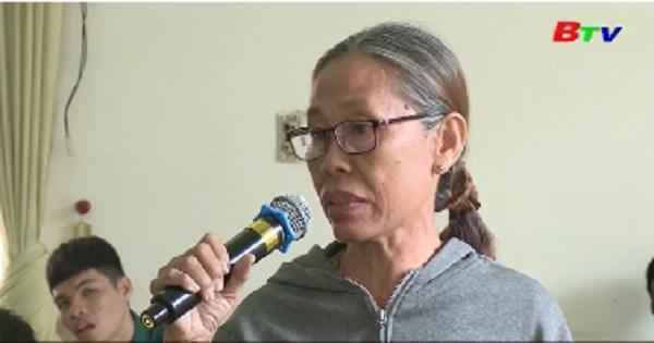 Đại biểu Quốc hội tỉnh Bình Dương tiếp xúc cử tri phường Phú Thọ - Tp.Thủ Dầu Một