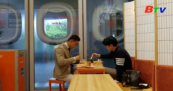 Nhà hàng phục vụ bữa ăn – Phong cách máy bay ở Seoul, Hàn Quốc