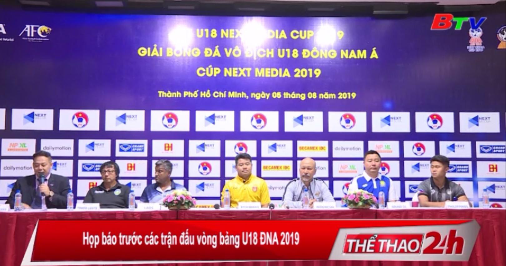 Họp báo trước các trận đấu vòng bảng U18 ĐNA 2019