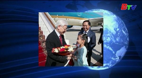 Tổng bí thư đến Moscow, bắt đầu thăm chính thức Nga