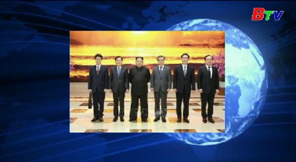 Phái đoàn Hàn Quốc hội kiến nhà lãnh đạo Triều Tiên