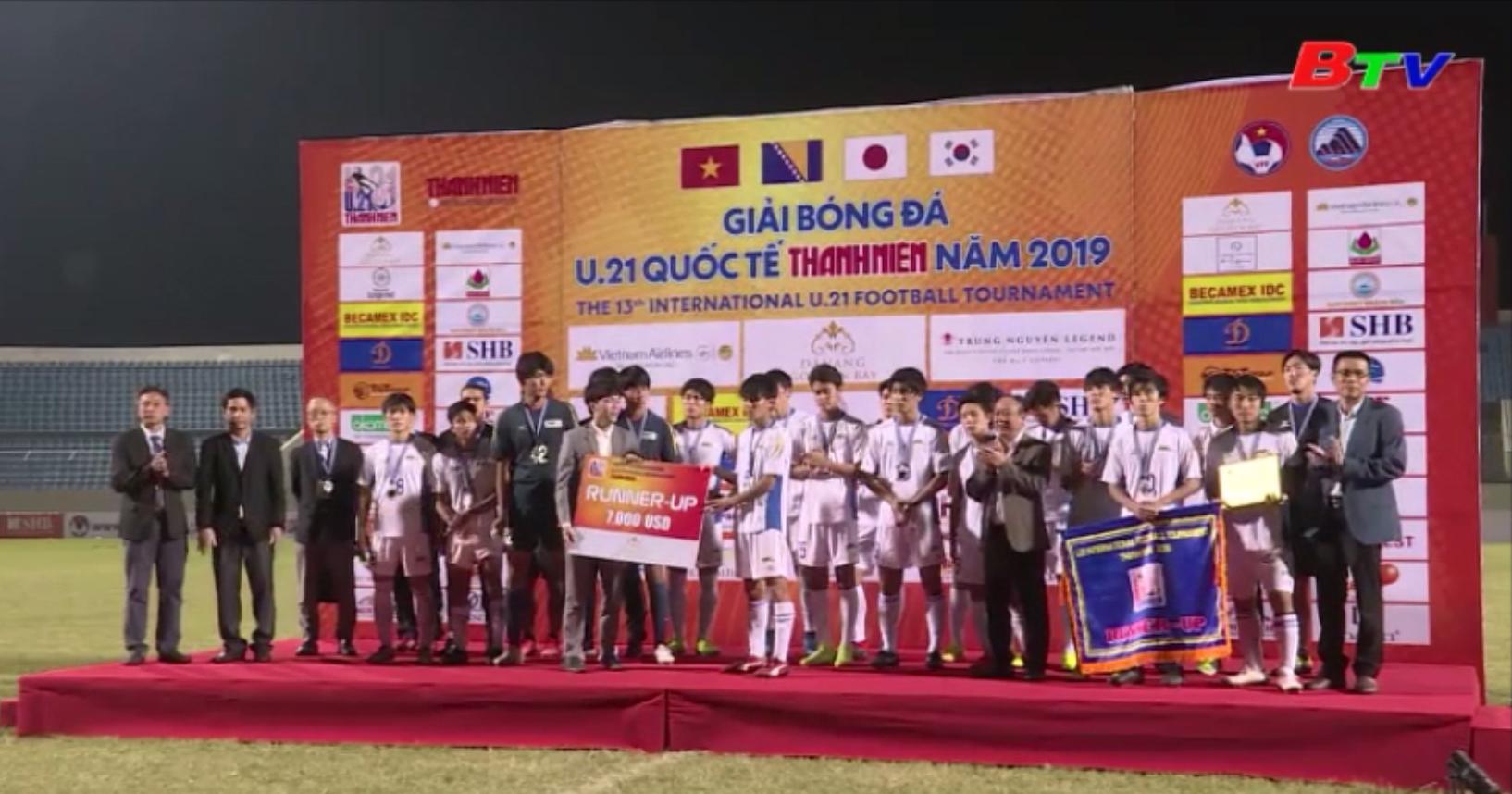 U21 tuyển chọn VN vô địch Giải bóng đá U21 quốc tế Thanh Niên 2019