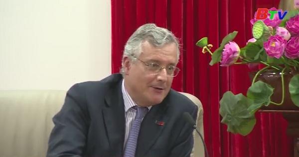Lãnh đạo UBND tỉnh Bình Dương tiếp xã giao đoàn công tác Phòng Thương mại Châu Âu tại Việt Nam
