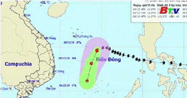 Tin áp thấp nhiệt đới trên biển Đông (suy yếu từ bão số 7)
