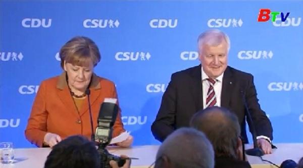2 đảng của Đức chọn bà Merkel làm ứng cử viên thủ tướng