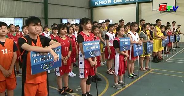 Khai mạc bóng rổ, bóng bàn Giải Thể thao học sinh tỉnh Bình Dương